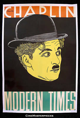 Typography Tees - Modern Times, with Charlie Chaplin, 1936 by Stars on Art