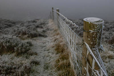 Photograph - Moel Famau Frosty Fence by Paul Madden