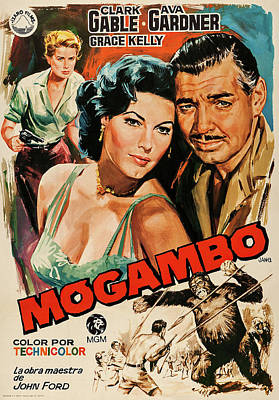 Mixed Media Royalty Free Images - Mogambo, with Clark Gable and Ava Gardner, 1953 Royalty-Free Image by Stars on Art