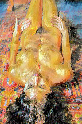 Cactus Royalty Free Images - Mona nude painting 998 Royalty-Free Image by Mike Penney