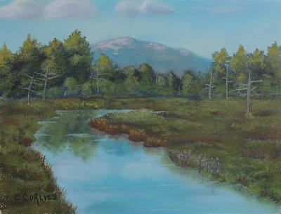 Pastel - Monadnock Reflections by Carol Corliss