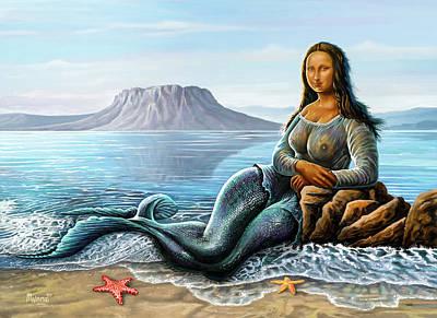 Animals Digital Art - Monalisa Mermaid by Anthony Mwangi