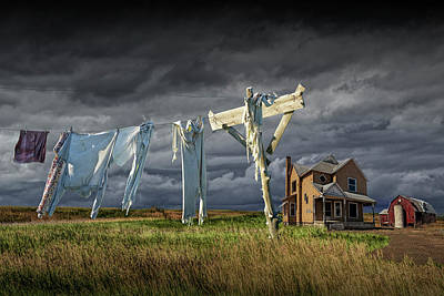 Stellar Interstellar - Monday Morning Wash on the Clothesline by Randall Nyhof