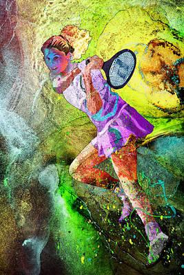 Sports Paintings - Monica Seles Dream 01 by Miki De Goodaboom