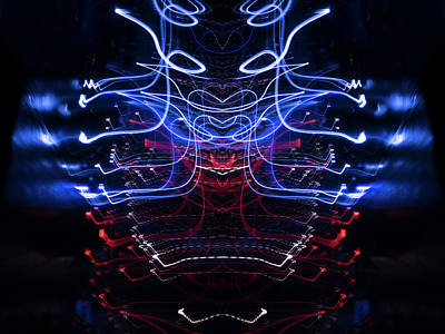 1-war Is Hell - Mono Symmetry Lightpainting Number 3 by John Williams