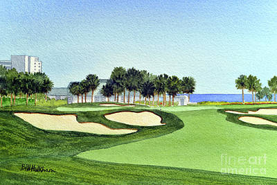 Celebrity Watercolors - Montauk Downs State Park Golf Course by Bill Holkham