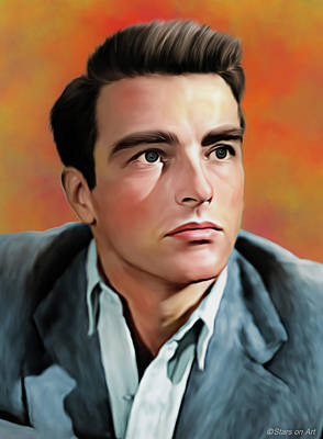 Royalty-Free and Rights-Managed Images - Montgomery Clift illustration by Stars on Art