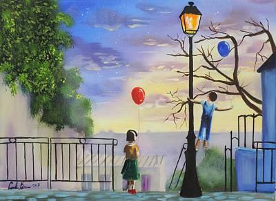 Painting - Montmartre Paris Painting by Gordon Bruce