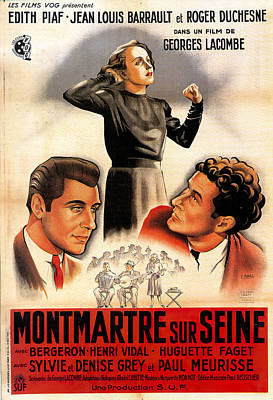 Royalty-Free and Rights-Managed Images - Montmartre sur Seine, 1941 by Stars on Art