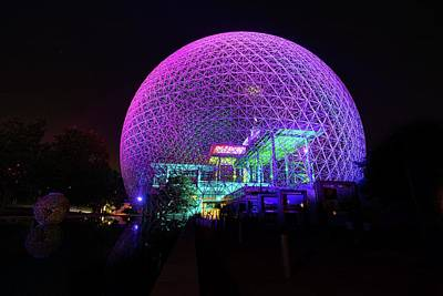 Scifi Portrait Collection - Montreal Biosphere at Night by Marlin and Laura Hum