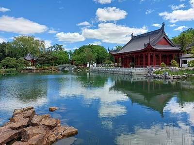 Classic Christmas Movies - Montreal Botanical Gardens Chinese Pavilion by Marlin and Laura Hum