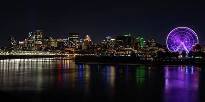 Amy Weiss - Montreal Night Skyline Old Port by Marlin and Laura Hum