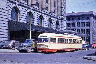 Wine Down - Montreal  trolley  PCCs  by Mario Pompetti