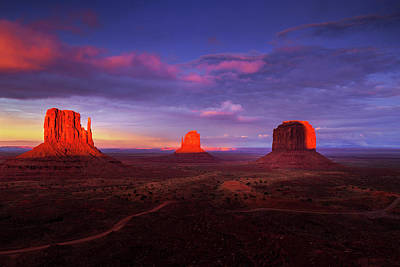 Staff Picks Judy Bernier - Monument Valley at Sunset by Andrew Soundarajan