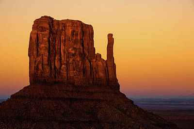 Landscapes Royalty-Free and Rights-Managed Images - Monument Valley Mitten Landscape by Gregory Ballos