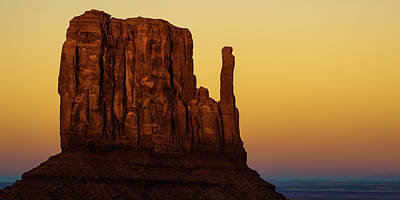 Landscapes Royalty-Free and Rights-Managed Images - Monument Valley Mitten Landscape Panorama by Gregory Ballos