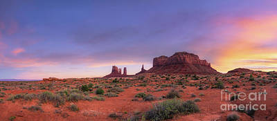 Royalty-Free and Rights-Managed Images - Monument Valley Navajo Park Sunset  by Michael Ver Sprill