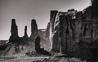 Car Photos Douglas Pittman - Monument Valley sisters 2 by Mike Penney