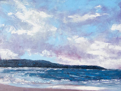 Painting - Moody Blues by Mary Benke