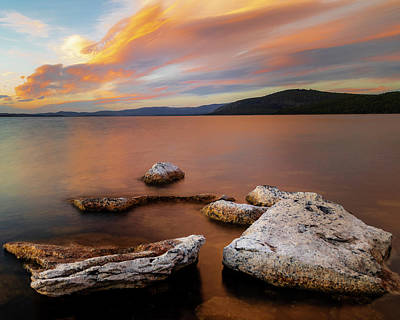 Surrealism Royalty-Free and Rights-Managed Images - Moody Pikes Point Evening by Mike Lee