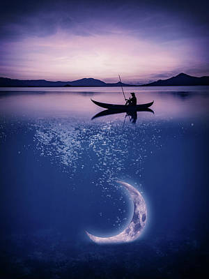 Royalty-Free and Rights-Managed Images - Moon fishing by Mihaela Pater