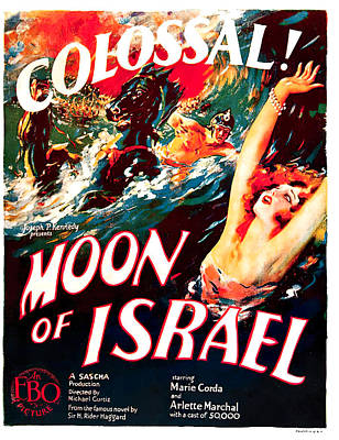 Mixed Media Royalty Free Images - Moon of Israel, 1924 Royalty-Free Image by Stars on Art
