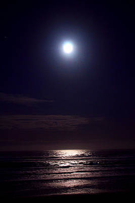 Travel Rights Managed Images - Moonlit Ocean Royalty-Free Image by Steven Baier