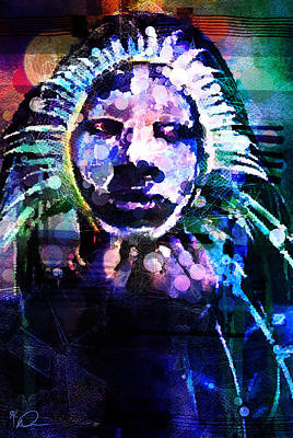Painting Royalty Free Images - Moonrise Madonna Royalty-Free Image by David Derr