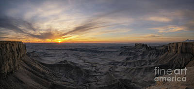 Surrealism Royalty Free Images - Moonscape Sunrise Panorama  Royalty-Free Image by Michael Ver Sprill