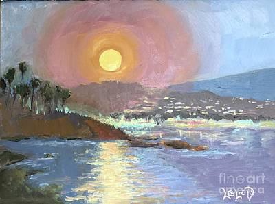 Moody Trees - Moonshine by Leslie Dobbins