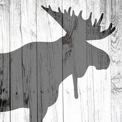 Animal Paintings David Stribbling - Moose and a Shadow by Brandi Fitzgerald