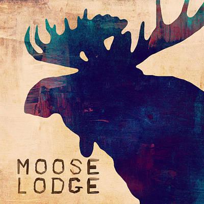 Animal Paintings David Stribbling - Moose Lodge in Color by Brandi Fitzgerald