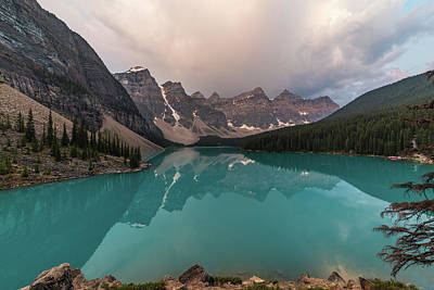 Firefighter Patents - Moraine Lake with clouds by Joe Kopp