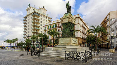 Moody Trees - Moret Monument an Fenix Building in San Juan de Dios Square Cadiz Andalusia by Pablo Avanzini