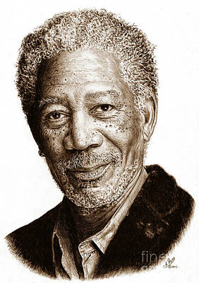 Whimsically Poetic Photographs - Morgan Freeman sepia by Andrew Read