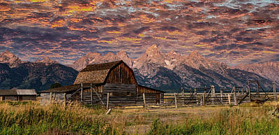 Vermeer Rights Managed Images - Mormon Row Majesty - Grand Tetons Royalty-Free Image by Stephen Stookey