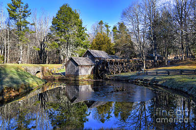 Abstract Shapes Janice Austin - Morning at Mabry Mill Along the Blue Ridge Parkway by Kerri Farley