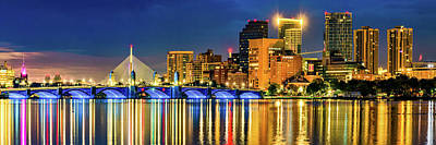Royalty-Free and Rights-Managed Images - Morning Boston Skyline Panorama Over The Charles River by Gregory Ballos