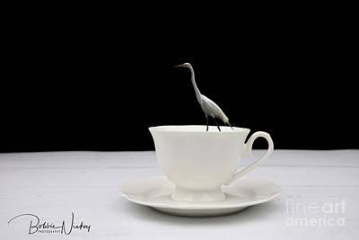 Priska Wettstein Pink Hues - Morning Egret by Bobbie Nickey