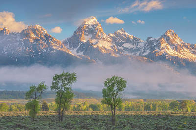 Ps I Love You - Morning Fog in the Tetons by Darren White