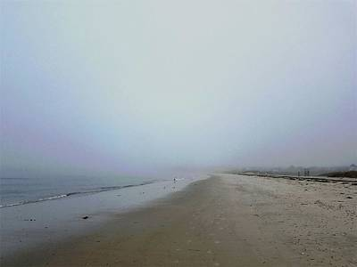 World War 2 Action Photography Royalty Free Images - Morning Fog on the Beach Royalty-Free Image by Sharon Williams Eng