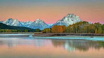 Photograph - Morning Glow Grand Teton NP by Russell Cody