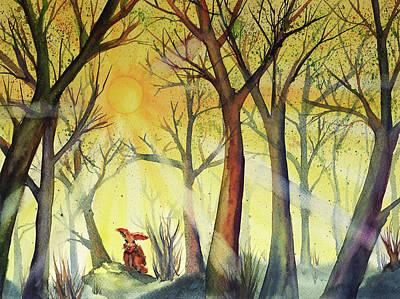 Painting - Morning Hare by Neringa Barmute