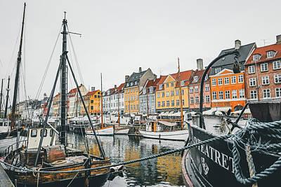 Railroad - Morning in Nyhavn by Steven Sligh