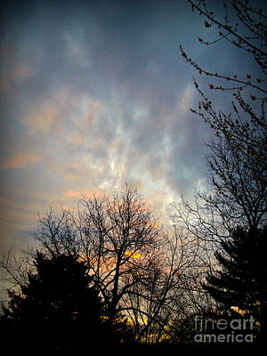 Frank J Casella Royalty-Free and Rights-Managed Images - Morning Mix of Sun and Clouds by Frank J Casella