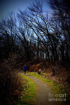 Frank J Casella Royalty-Free and Rights-Managed Images - Morning Run on the Trails by Frank J Casella