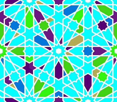 Royalty-Free and Rights-Managed Images - Moroccan islamic style geometric tile 5 by Celestial Images