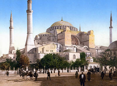 Science Collection Rights Managed Images - Mosque of St. Sophia - Constantinople - Circa 1895 Photochrom Royalty-Free Image by War Is Hell Store