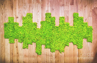 Royalty-Free and Rights-Managed Images - Moss Texture Pattern On Wooden Panel by Luca Lorenzelli