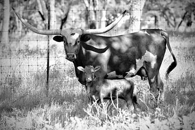 Photograph - Mother and Son - B/W by Miguel Lecuona